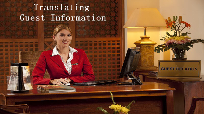 Translating Guest Information