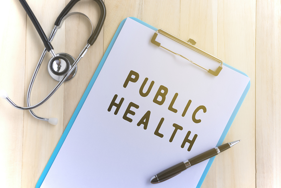 Medical and health care concept - Public Health text.